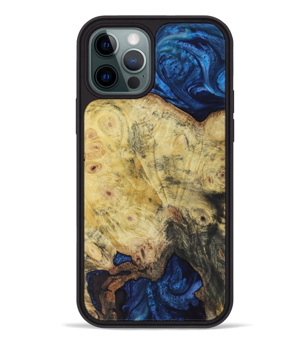 iPhone 12 Pro Wood+Resin Phone Case - Andrzej (Dark Blue, 396081)