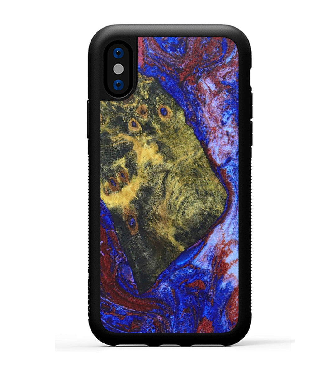 iPhone X Wood+Resin Case - Ramniklal (Blue & Red, 332314)