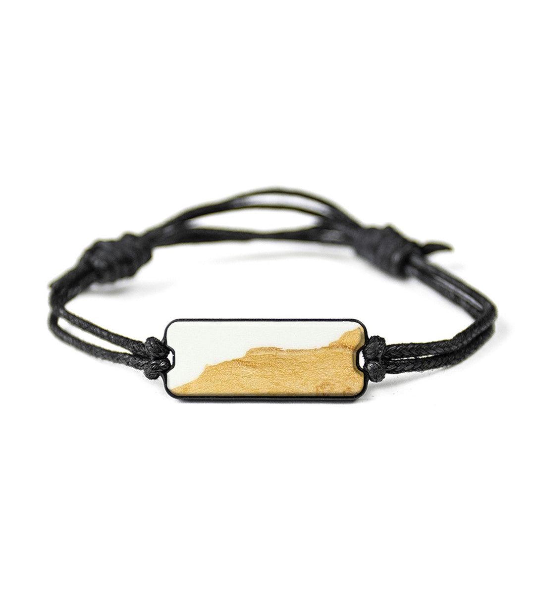 Classic Wood+Resin Bracelet - Demetri (Black & White, 394158)