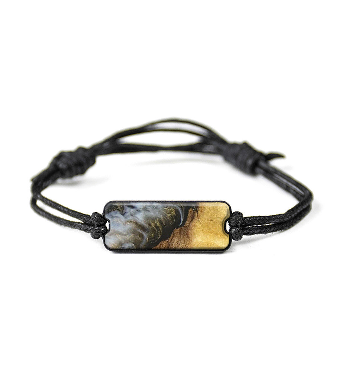 Classic Wood+Resin Bracelet - Gene (Black & White, 348720)