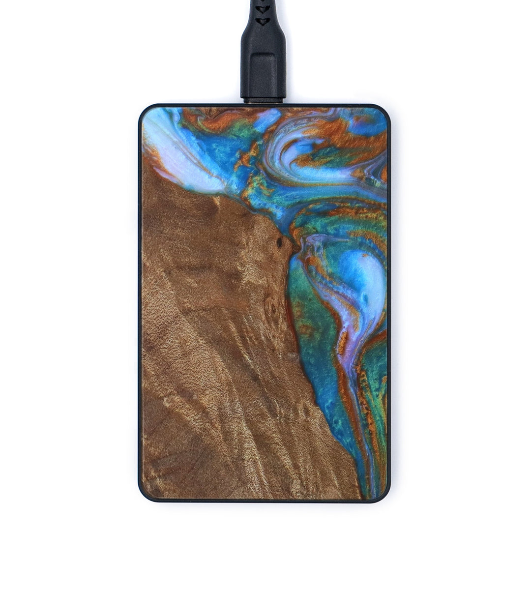 Thin Wireless Charger - Marj (Teal & Gold, 335906)