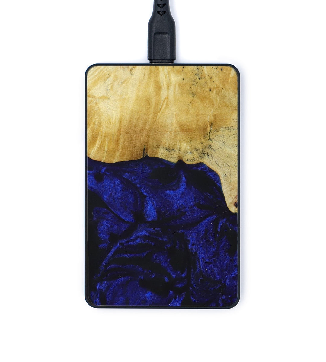 Thin Wood+Resin Wireless Charger - Morgana (Dark Blue, 393339)