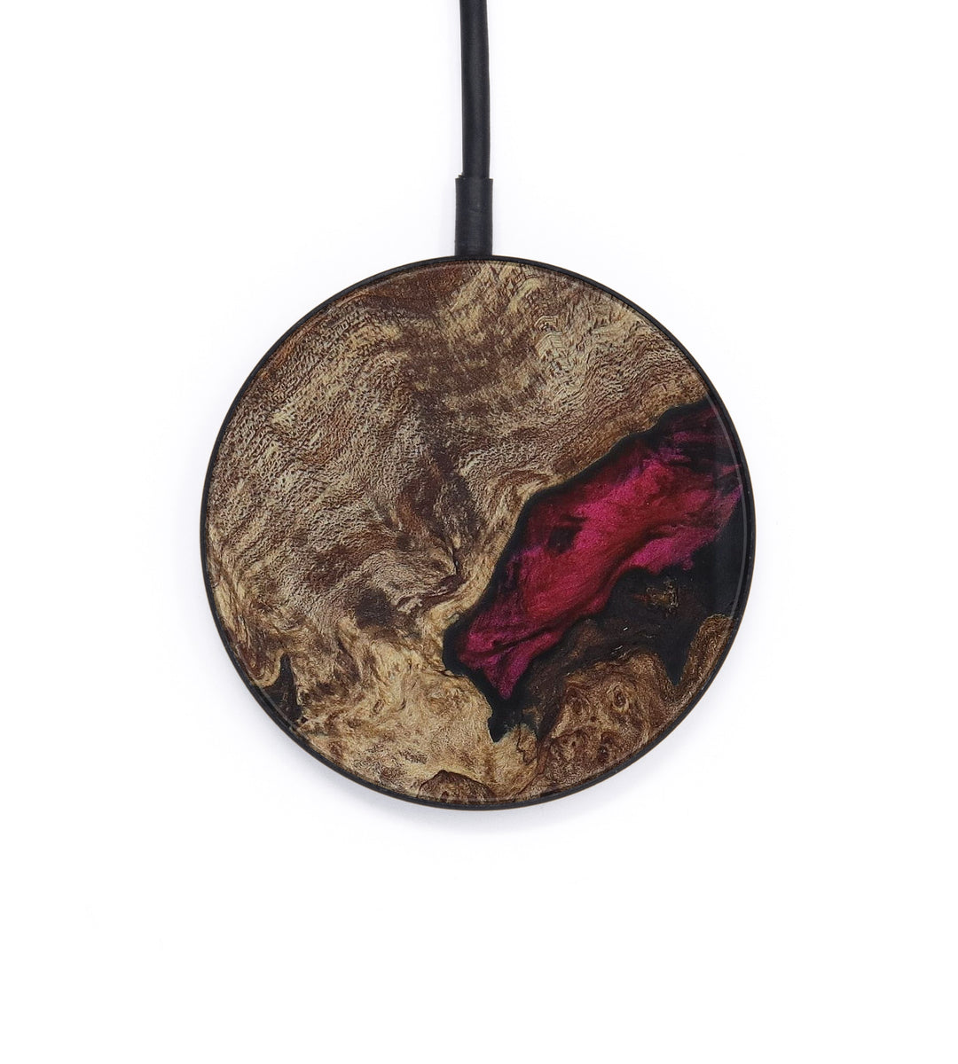 Circle Wood+Resin Wireless Charger - Belicia (Dark Red, 406362)