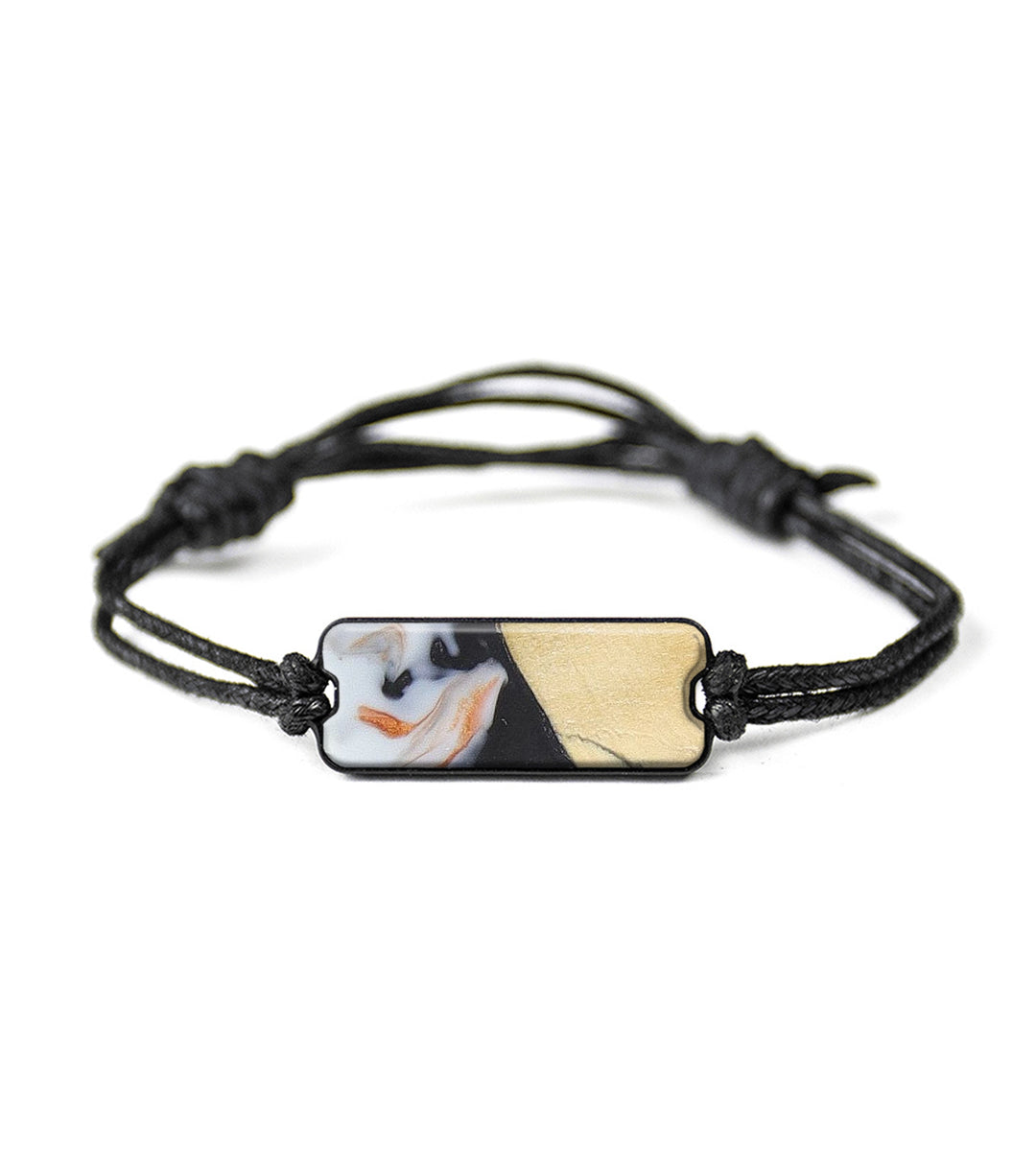 Classic Wood+Resin Bracelet - Philip (Black & White, 393702)