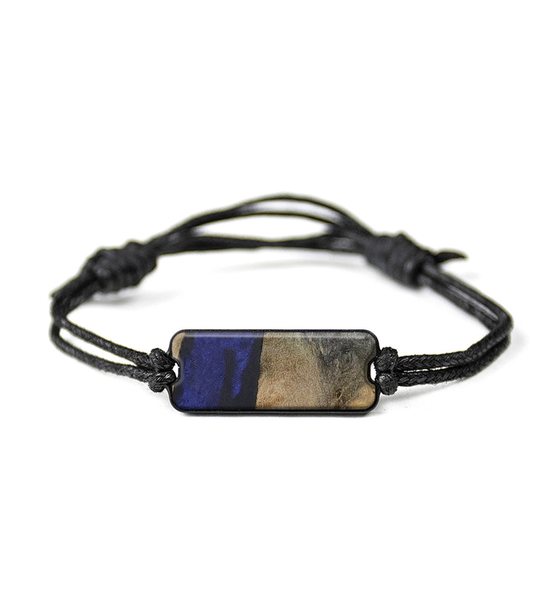 Classic Wood+Resin Bracelet - Leoine (Dark Blue, 417004)