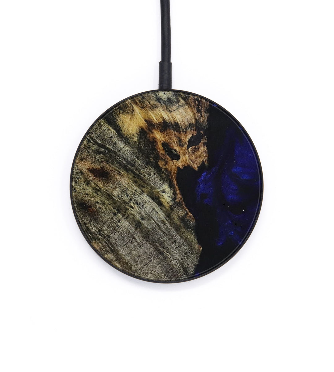 Circle Wood+Resin Wireless Charger - Khanh (Dark Blue, 393419)