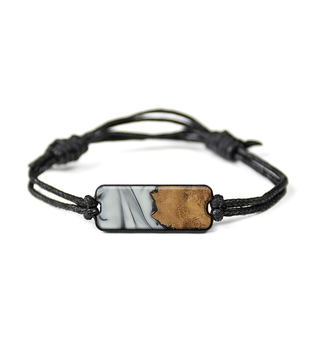 Classic Wood+Resin Bracelet - Koral (Black & White, 358221)