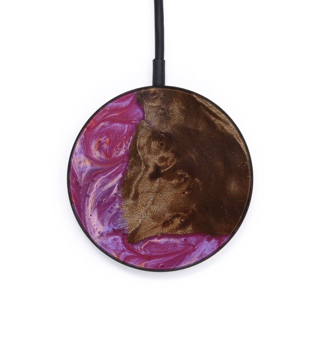 Circle Wood+Resin Wireless Charger - Melisande (Pink, 386833)