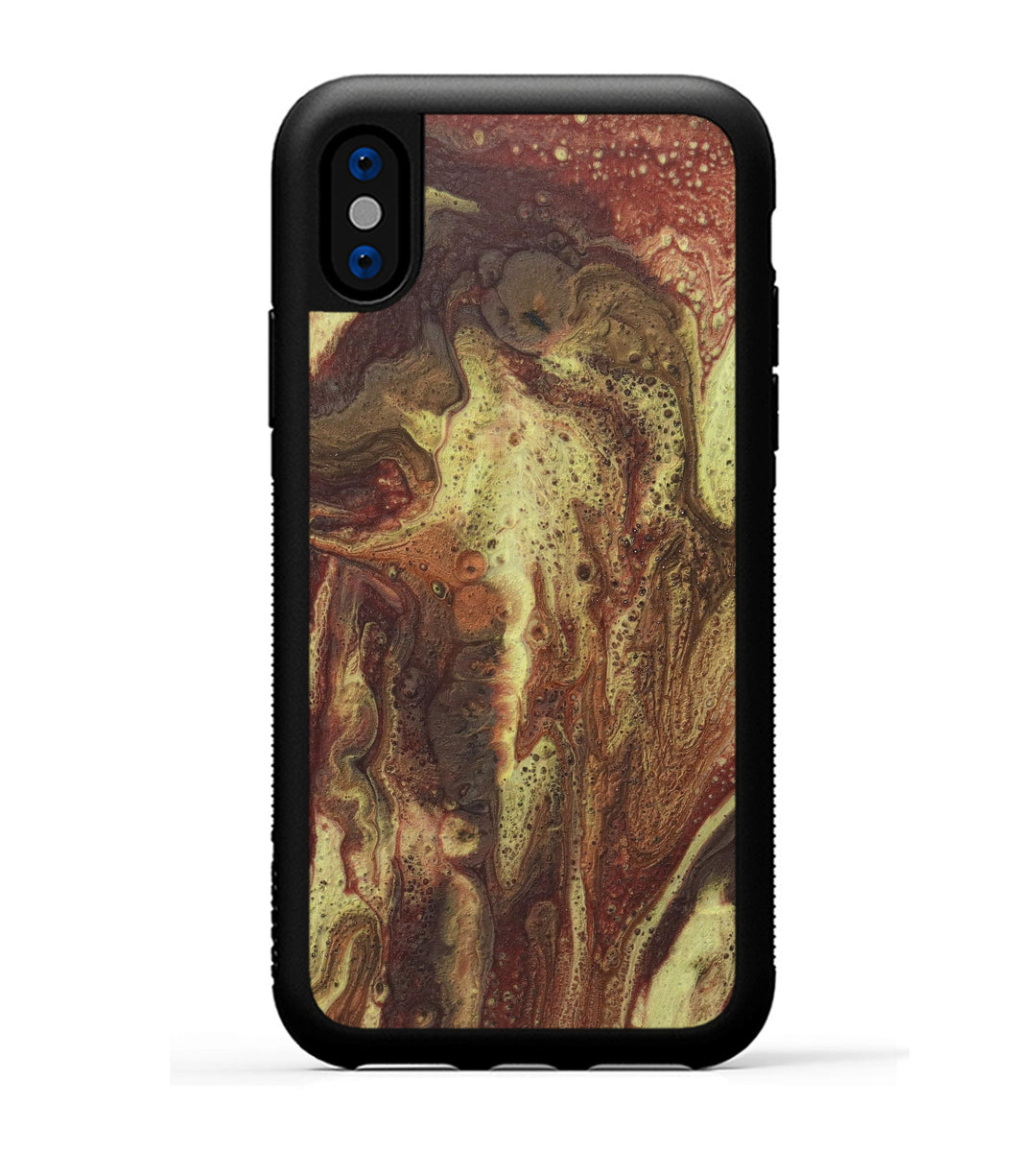 iPhone Xs Case - Sharad (Dark Red, 345817)