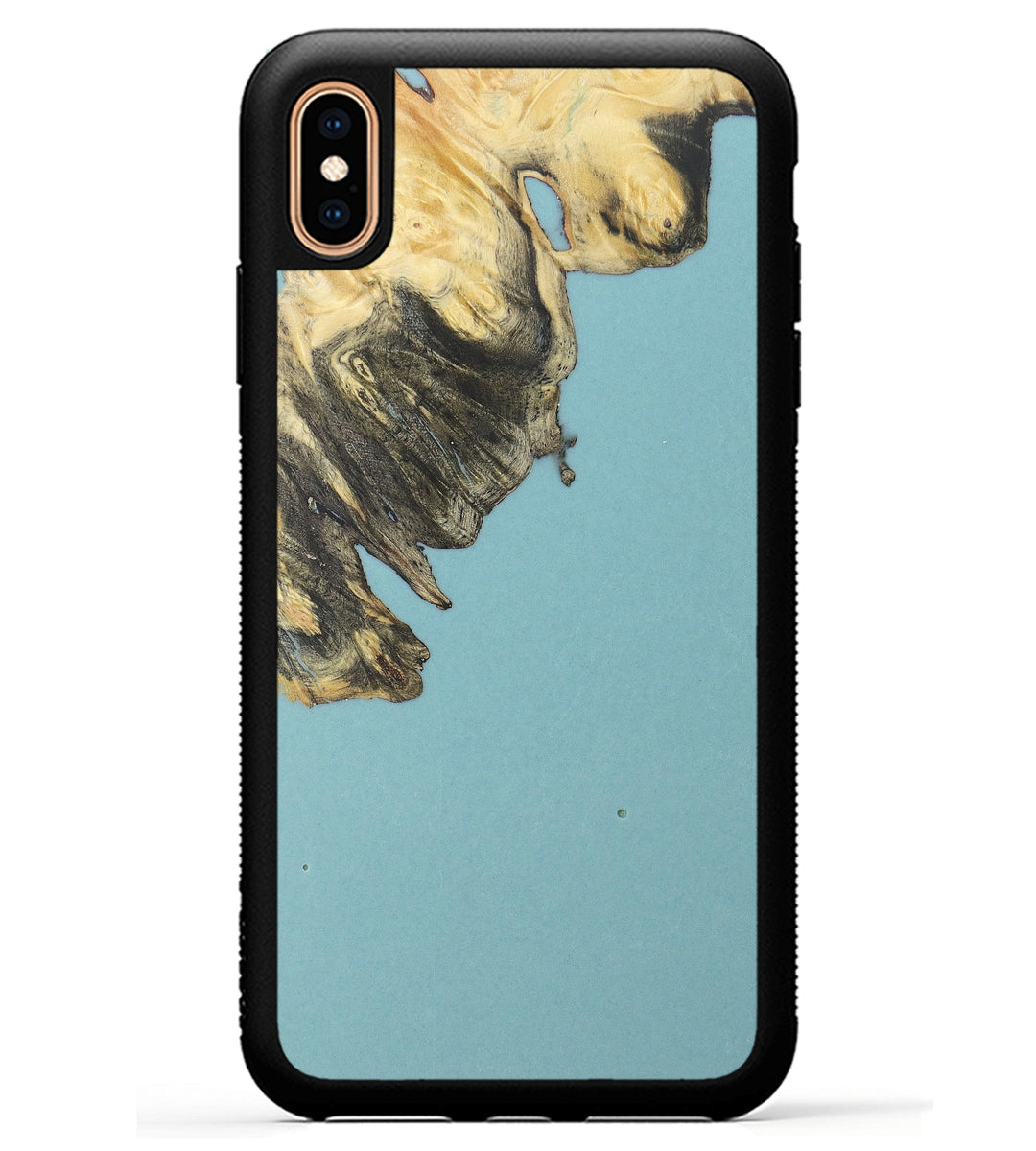 iPhone Xs Max Wood+Resin Phone Case - Florence (Dark Green, 369666)