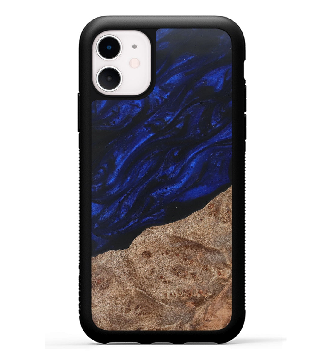 iPhone 11 Wood+Resin Phone Case - Nicole (Dark Blue, 368223)
