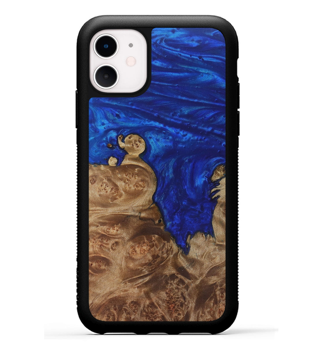 iPhone 11 Wood+Resin Phone Case - Bradley (Dark Blue, 369323)