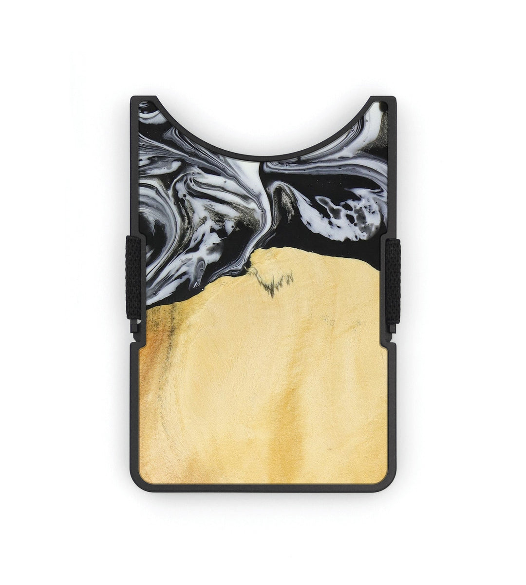 Alloy Wood+Resin Wallet - Eve (Black & White, 393684)