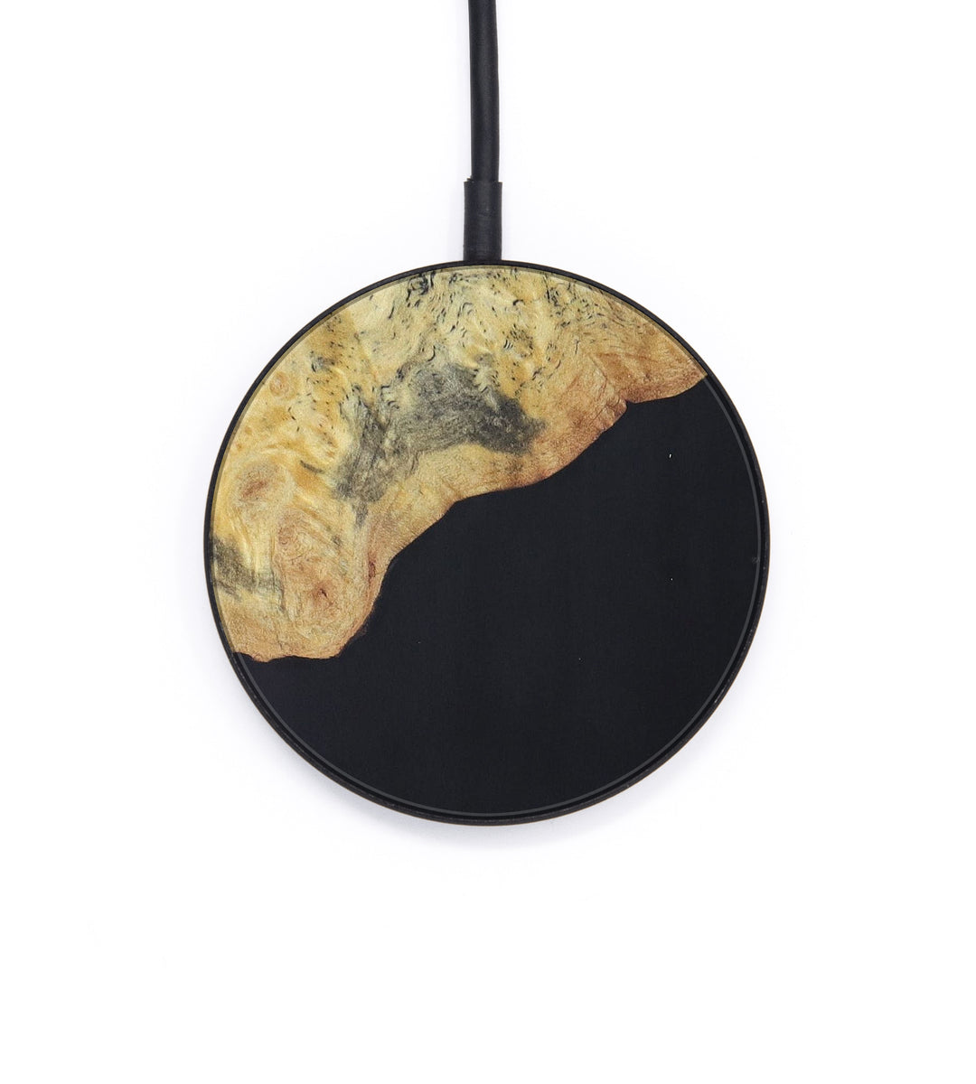 Circle Wood+Resin Wireless Charger - Inna (Pure Black, 393273)
