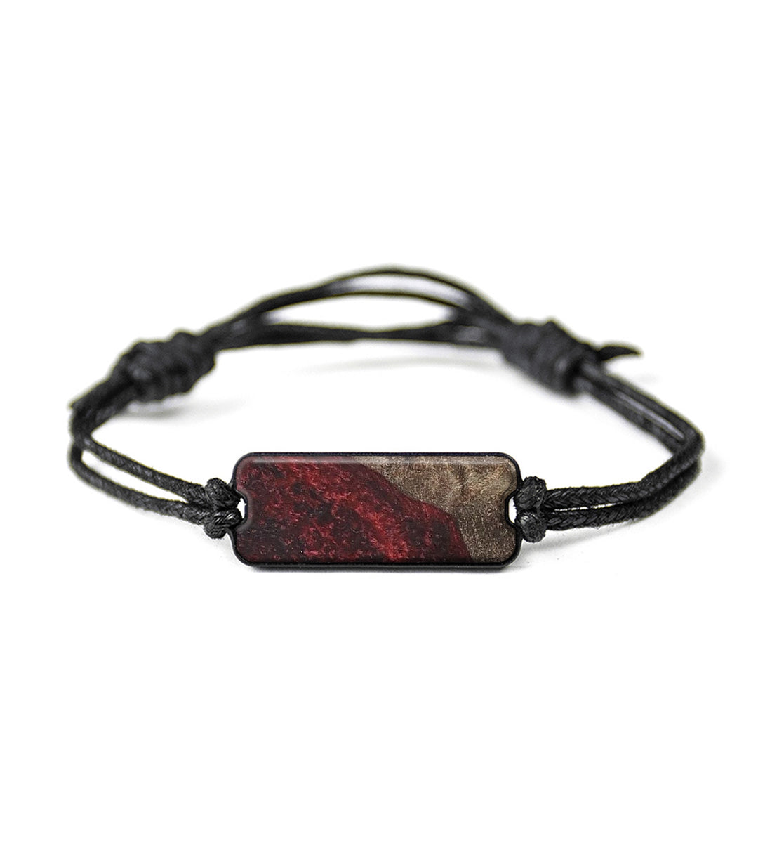 Classic Wood+Resin Bracelet - Charissa (Dark Red, 368843)