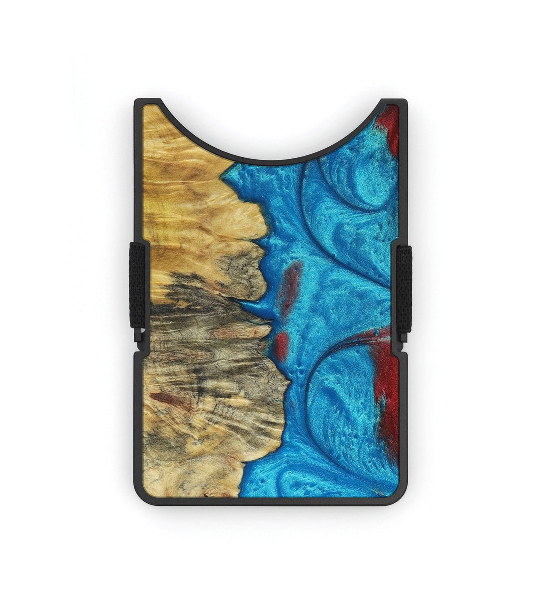 Alloy Wood+Resin Wallet - Nerti (Blue & Red, 395043)