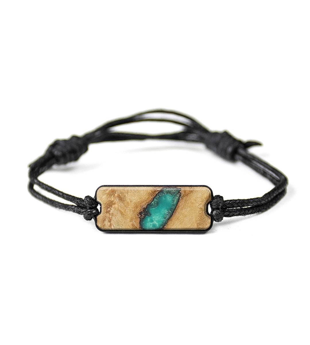 Classic Wood+Resin Bracelet - Riekie (Dark Green, 368772)