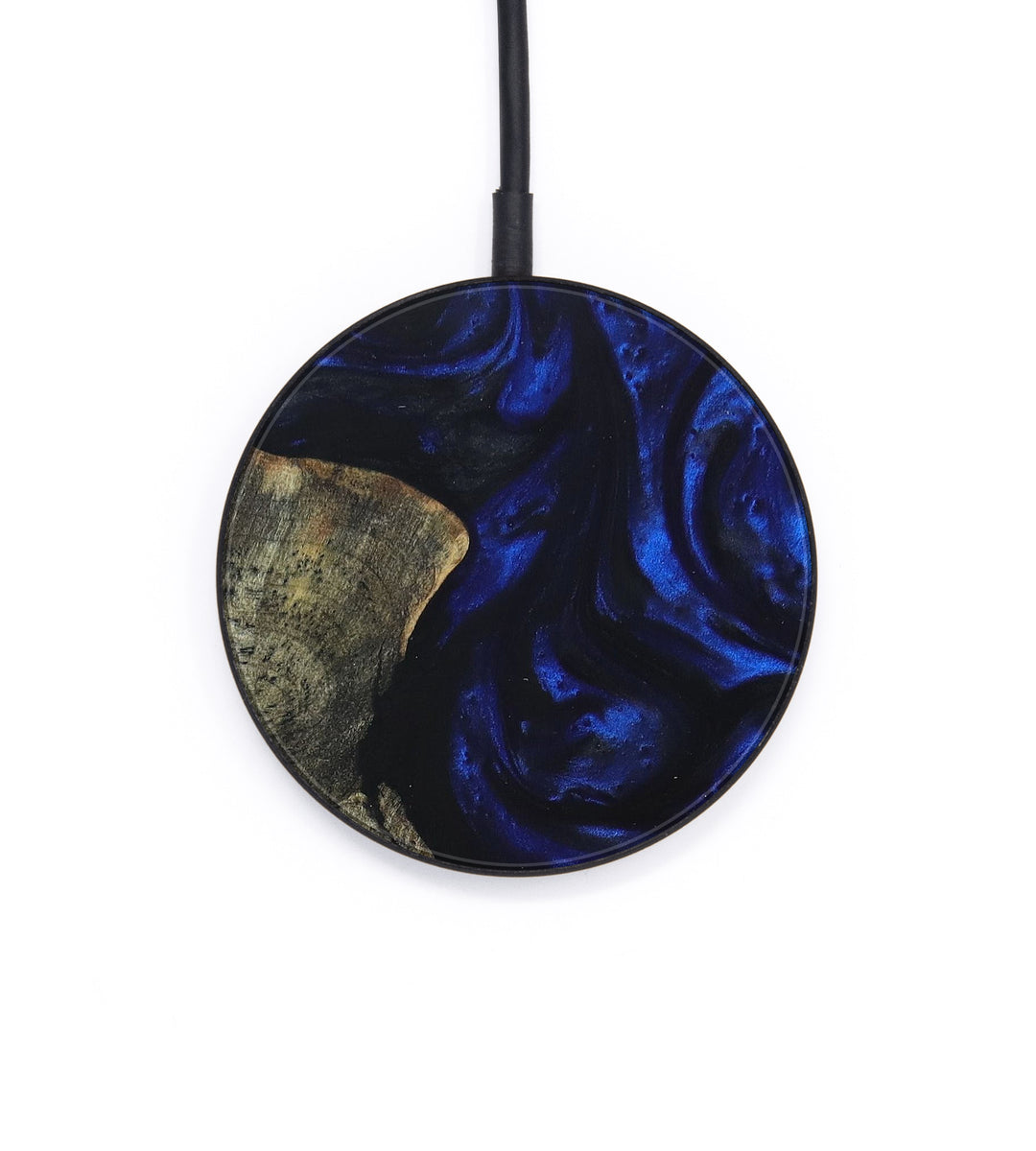 Circle Wood+Resin Wireless Charger - Erlene (Dark Blue, 392930)