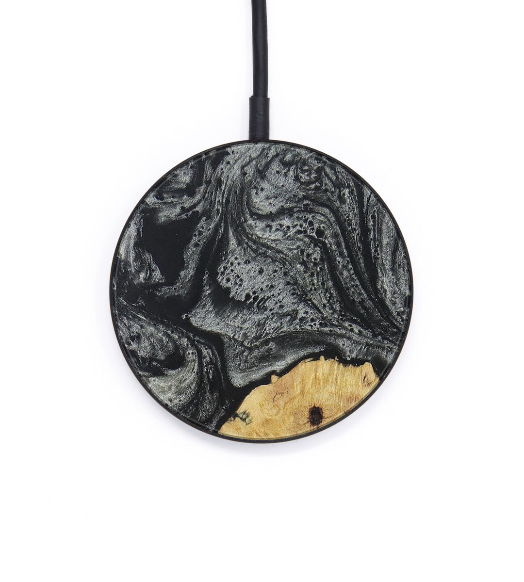 Circle Wood+Resin Wireless Charger - Audy (Black & White, 393673)