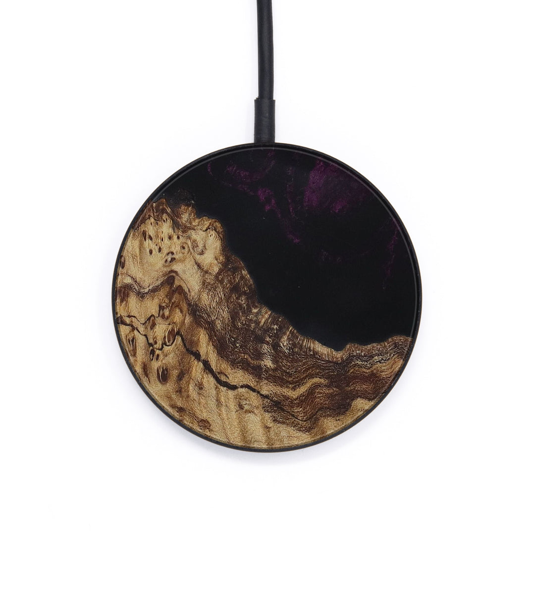 Circle Wood+Resin Wireless Charger - Celestia (Purple, 406352)