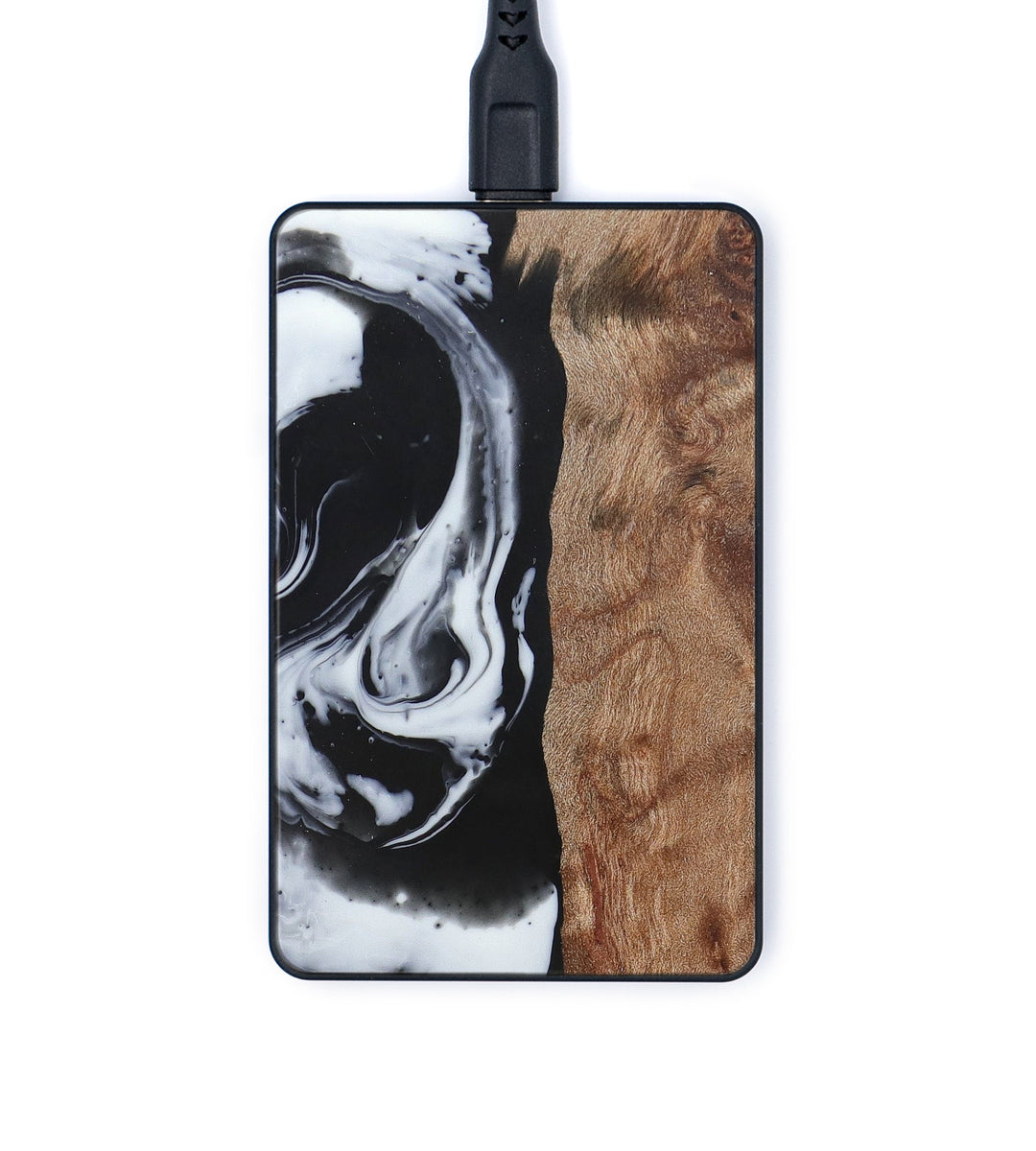 Thin Wood+Resin Wireless Charger - Claudia (Black & White, 393681)