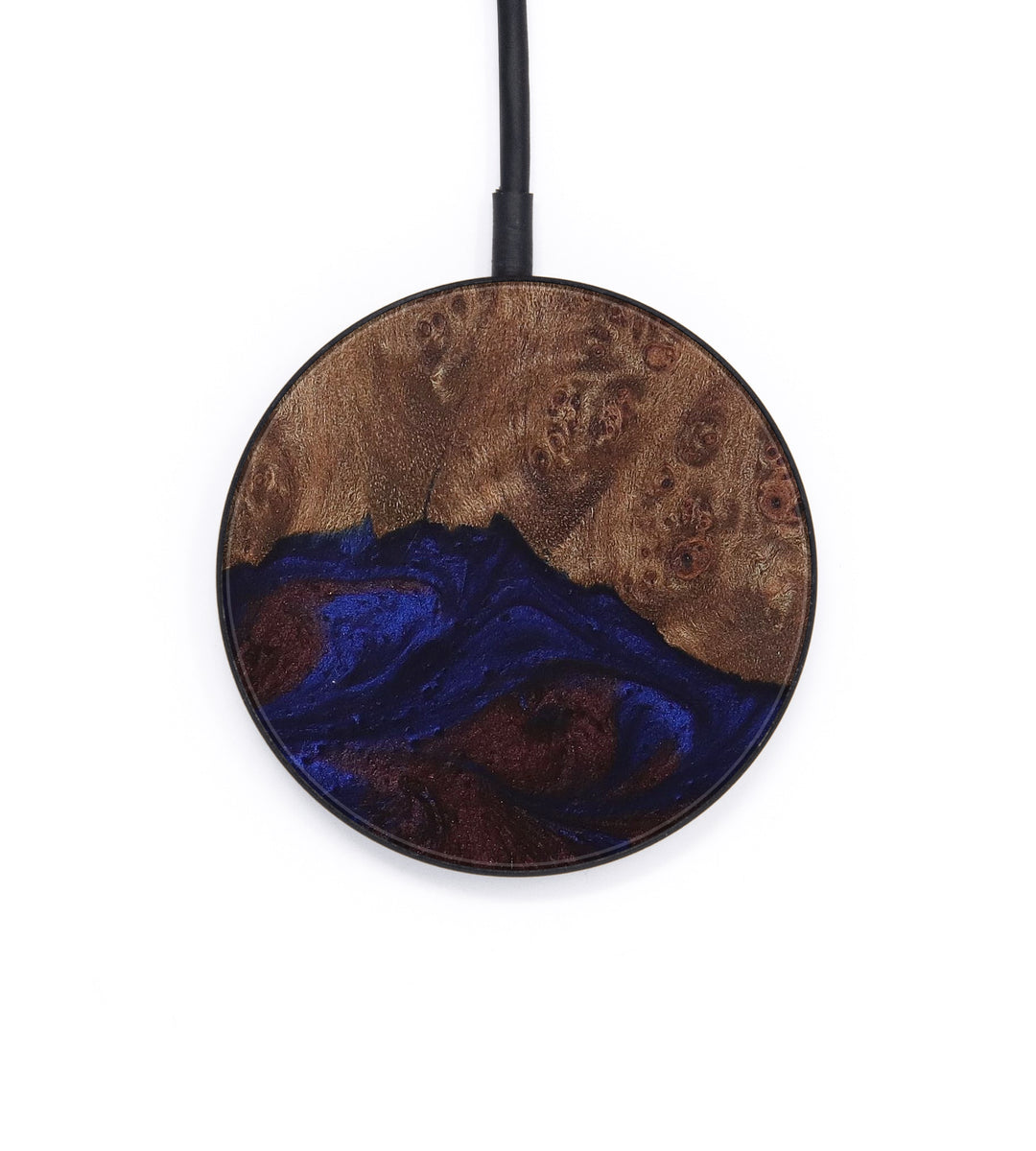 Circle Wood+Resin Wireless Charger - Sonnnie (Blue & Red, 386345)