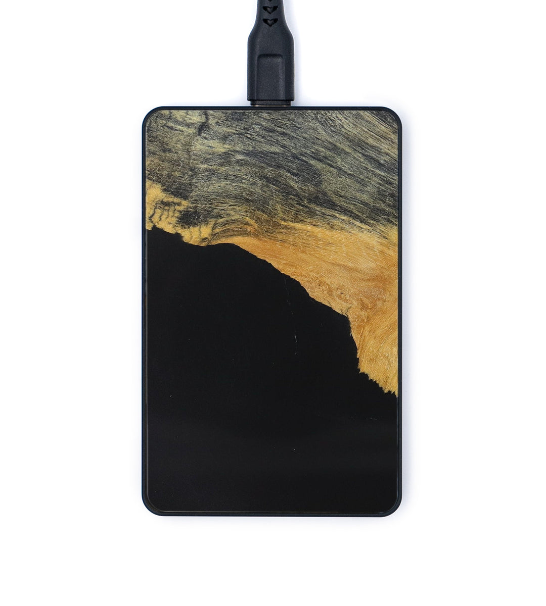 Thin Wood+Resin Wireless Charger - Andriette (Pure Black, 369696)