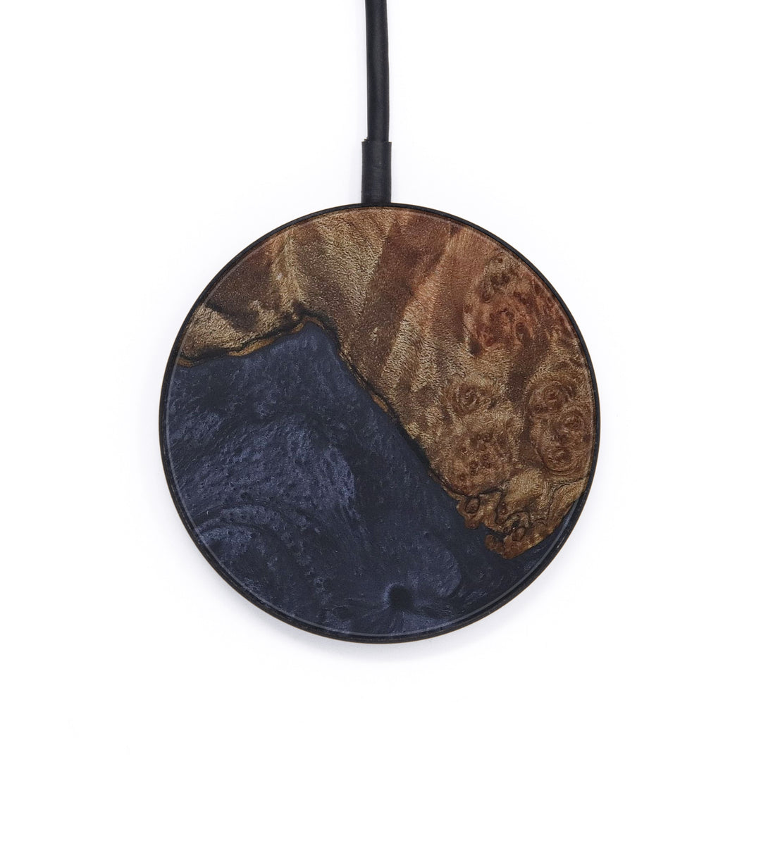 Circle Wood+Resin Wireless Charger - Ladan (Pure Black, 408727)