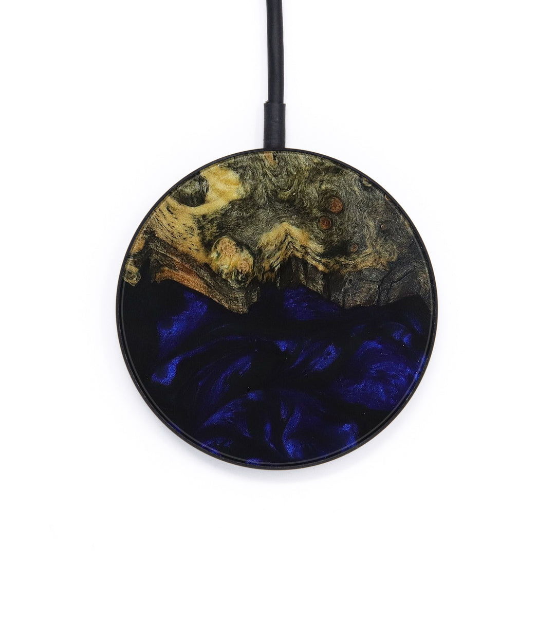 Circle Wood+Resin Wireless Charger - Michell (Dark Blue, 393423)