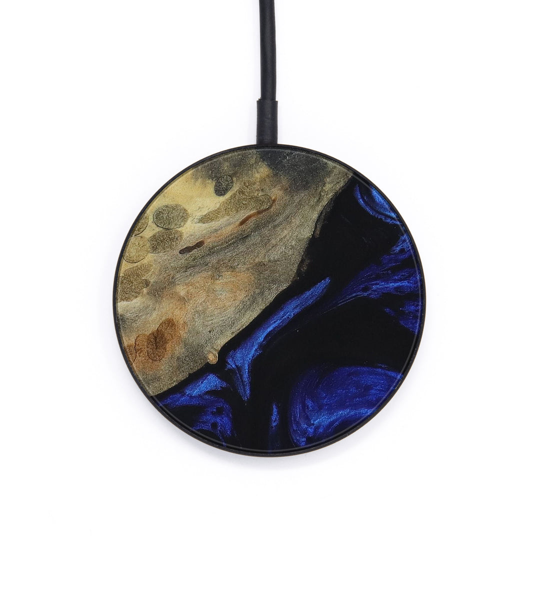 Circle Wood+Resin Wireless Charger - Julee (Dark Blue, 403834)