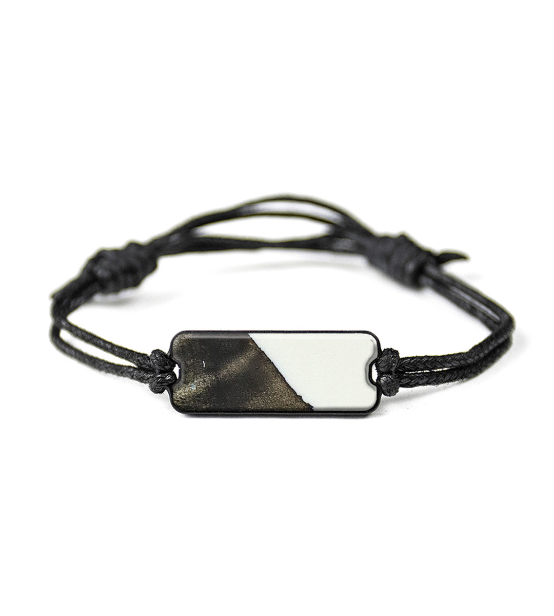 Classic Wood+Resin Bracelet - Helaine (Black & White, 394167)