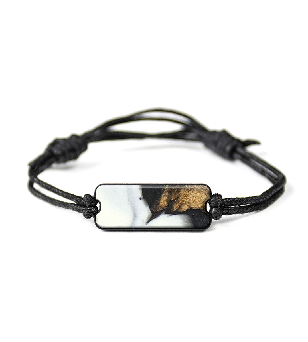 Classic Wood+Resin Bracelet - Chatri (Black & White, 368575)