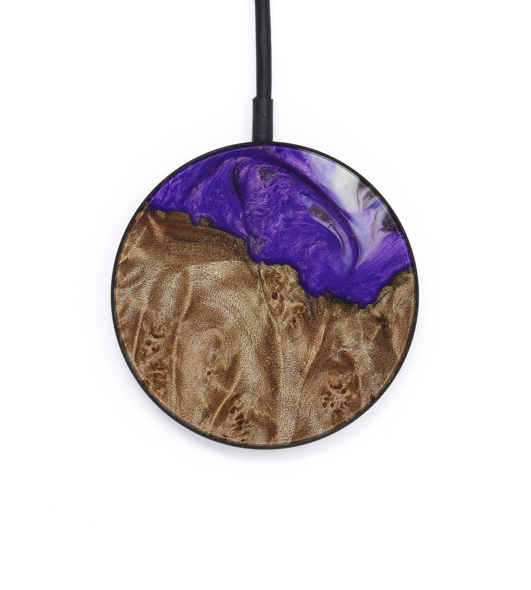 Circle Wood+Resin Wireless Charger - Vispy (Purple, 386331)
