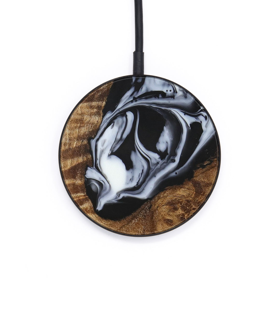 Circle Wood+Resin Wireless Charger - Kasifa (Black & White, 388896)