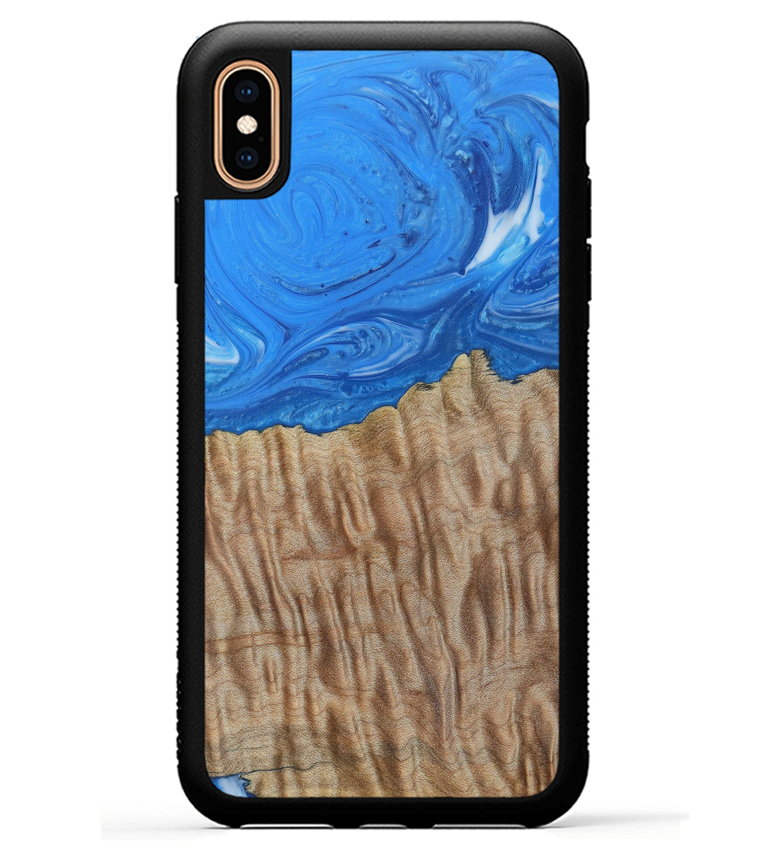 iPhone Xs Max Wood+Resin Phone Case - Liliana (Light Blue, 369269)