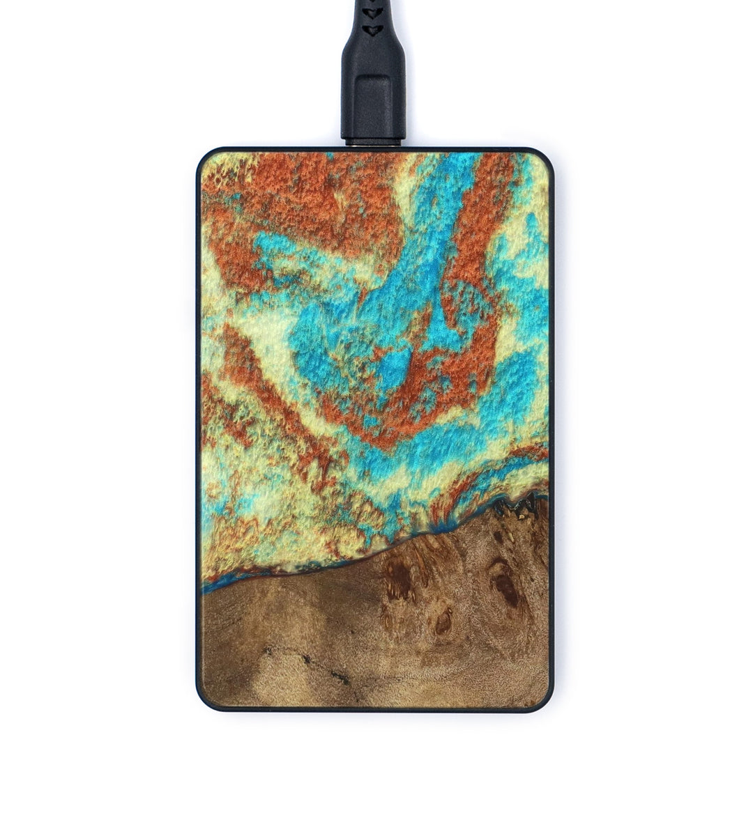 Thin Wireless Charger - Jillian (Teal & Gold, 334620)