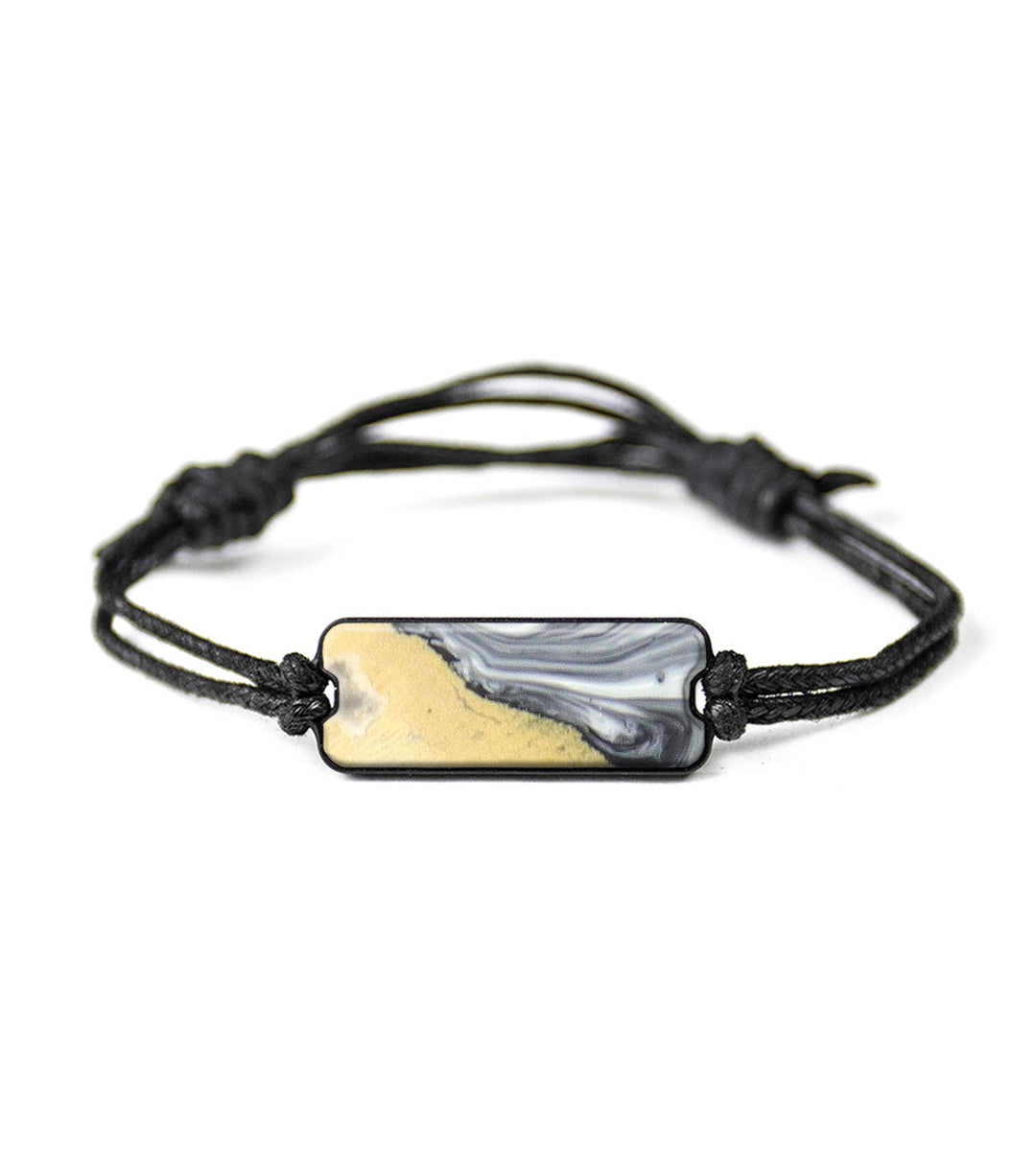 Classic Wood+Resin Bracelet - Amandip (Black & White, 368572)
