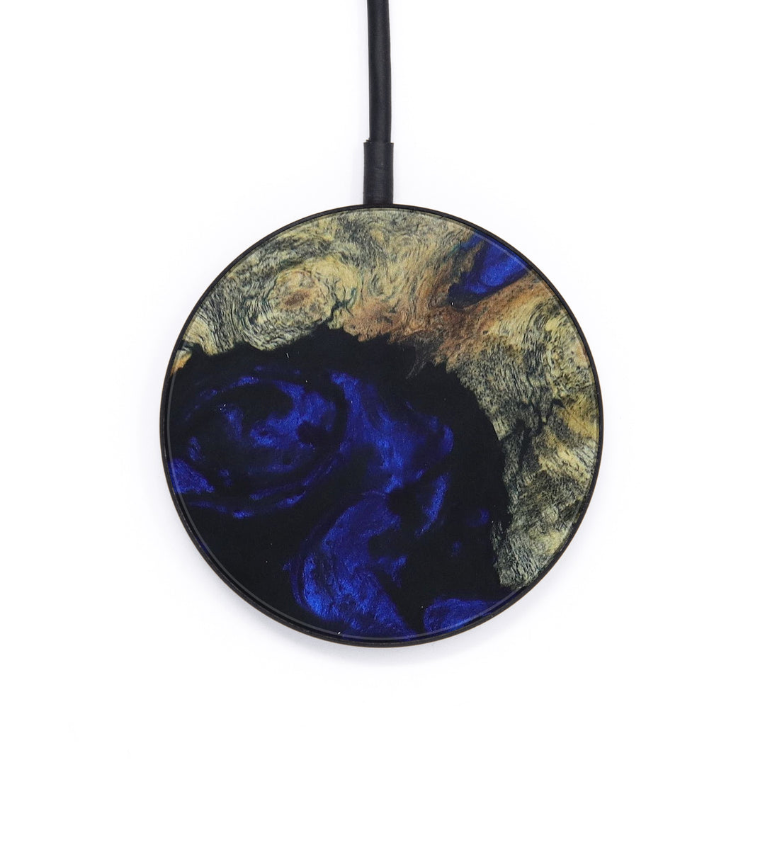 Circle Wood+Resin Wireless Charger - Gisela (Dark Blue, 393328)
