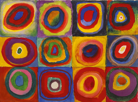 Wassily kandinsky colour study squares with concentric circles 1913