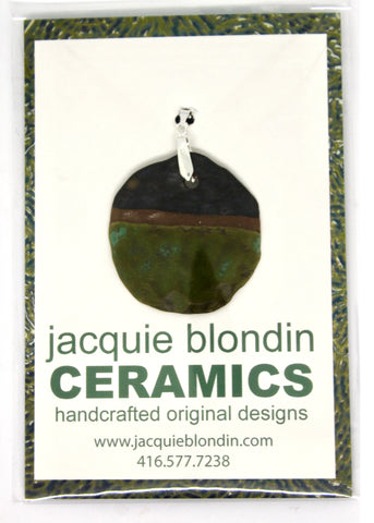 front pendant necklace jacquie blondin ceramics packaging branding clear bag flip seal