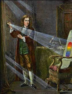 Isaac Newton prism light opticks