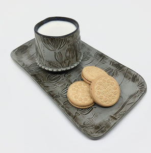 Milk & Cookies Cup and Platter Set