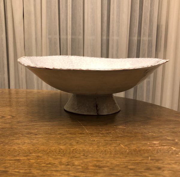 Bright White Pedestal Bowl