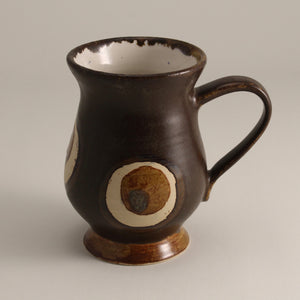 Satin Brown Mug with Circles