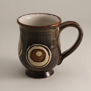 Shiny Brown Mug with Circles