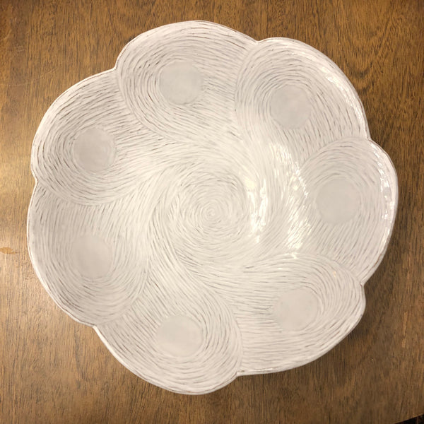 Bright White Floral Bowl