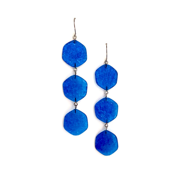 aqua dangle earrings