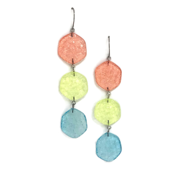 long blue pastel earrings