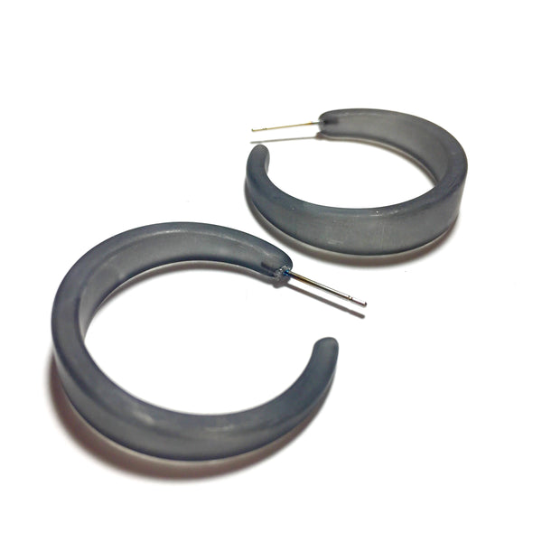 dark grey hoop earrings