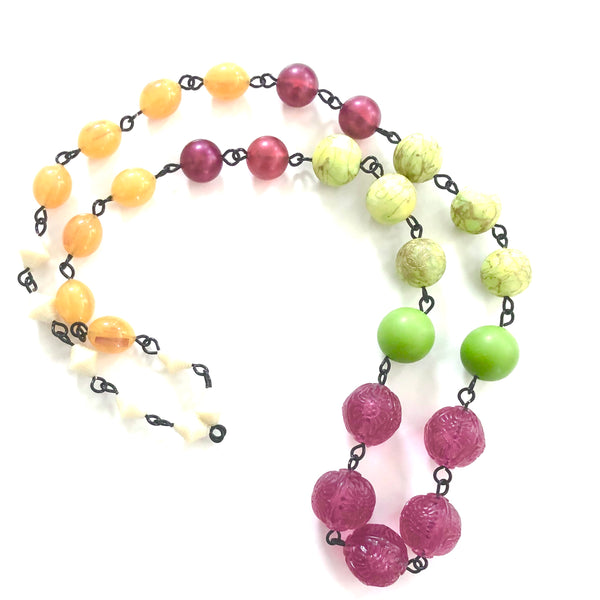 Raspberry & Citrus Lime Carmen Necklace